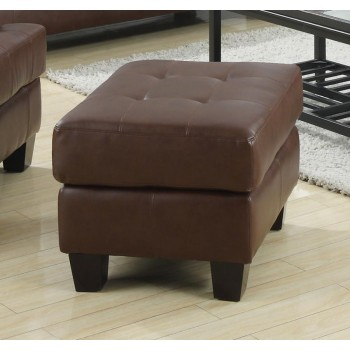 SAMUEL COLLECTION - Samuel Transitional Dark Brown Ottoman