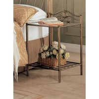 Sydney Metal bed - Sydney Metal Nightstand