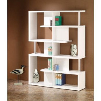HOME OFFICE : BOOKCASES - Transitional White Bookcase