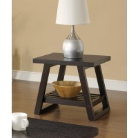 LIVING ROOM: WOOD TOP OCCASIONAL TABLES - Occasional Group Casual Cappuccino End Table