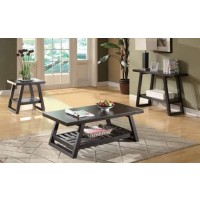 LIVING ROOM: WOOD TOP OCCASIONAL TABLES - Occasional Group Casual Cappuccino Sofa Table