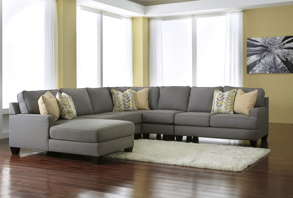 Chamberly   Alloy 5 Pc. LAF Corner Chaise Sectional