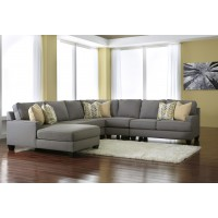 Chamberly - Alloy 5 Pc. LAF Corner Chaise Sectional