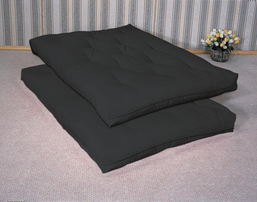 FUTON MATTRESSES - Black Premium Innerspring Futon Pad