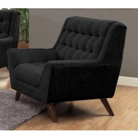 Natalia Collection - Natalia Mid-Century Modern Black Chair