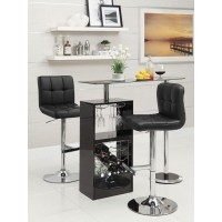 BAR UNITS: CONTEMPORARY - Transitional Black Bar Unit