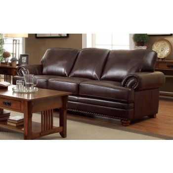 COLTON COLLECTION - Colton Traditional Brown Sofa