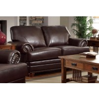 COLTON COLLECTION - Colton Traditional Brown Loveseat