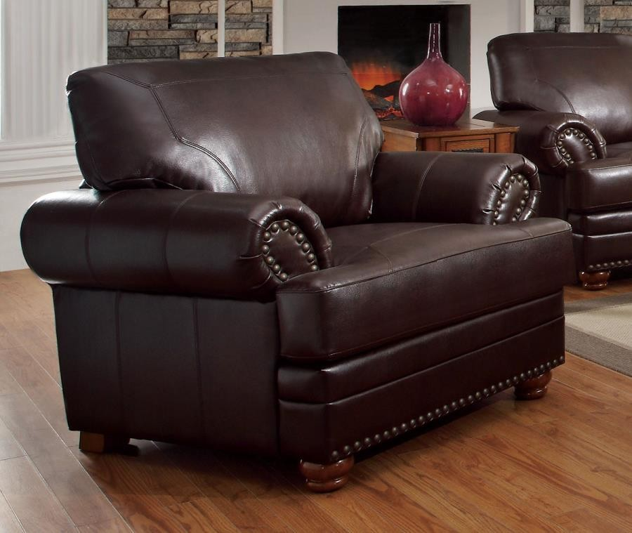 COLTON COLLECTION - Colton Traditional Brown Chair