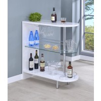 BAR UNITS: CONTEMPORARY - Contemporary Glossy White Bar Table