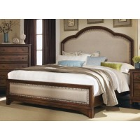 Laughton Collection - Laughton Rustic Brown Upholstered Eastern King Bed