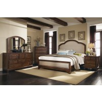 Laughton Collection - Laughton Rustic Brown Upholstered Queen Bed