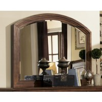 Laughton Collection - Laughton Rustic Dresser Mirror With Rounded Edge