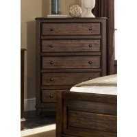 Laughton Collection - Laughton Rustic Five-Drawer Chest
