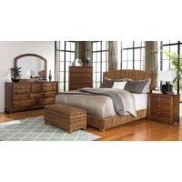 Laughton Collection - Laughton Rustic Brown  Queen Bed