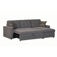 GUS SECTIONAL - Gus Casual Charcoal Sectional