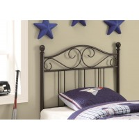 METAL HEADBOARD - Transitional Brown Metal Twin Headboard