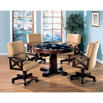 MARIETTA GAME TABLE - Marietta Casual Tobacco Finished Game Table