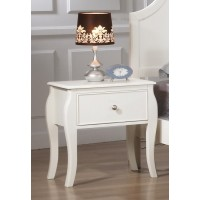 DOMINIQUE COLLECTION - Dominique French Country White Nightstand