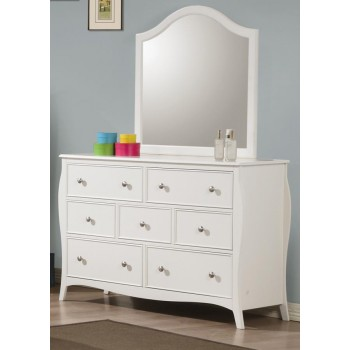 DOMINIQUE COLLECTION - Dominique French Country White Mirror