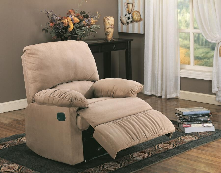 Living Room Recliner Casual Brown Motion Recliner 600264