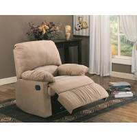 LIVING ROOM : RECLINER - Casual Brown Motion Recliner