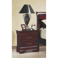 LOUIS PHILIPPE COLLECTION - Louis Philippe Red Brown Two-Drawer Nightstand