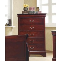 LOUIS PHILIPPE COLLECTION - Louis Philippe Red Brown Five-Drawer Chest