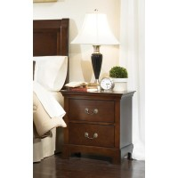 Tatiana Collection - Tatiana Transitional Two-Drawer Nightstand