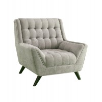 Natalia Collection - Natalia Mid-Century Modern Dove Grey Chair