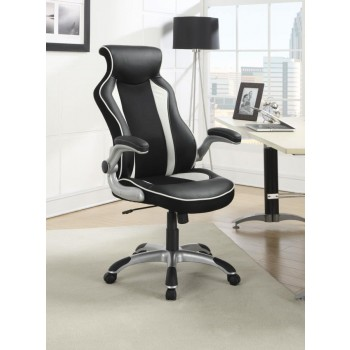 HOME OFFICE : CHAIRS - Contemporary Black and White Office Chair