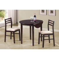 PACKAGED SETS: 3 PC SET - Casual Cappuccino Three-Piece Dining Set