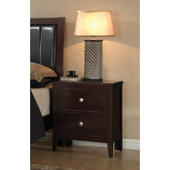 Carlton Collection  - Carlton Cappuccino Two-Drawer Nightstand