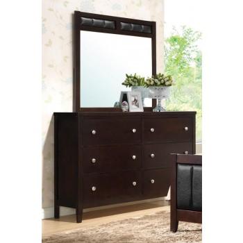 Carlton Collection  - Carlton Cappuccino Six-Drawer Dresser