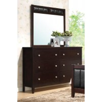 Carlton Collection  - Carlton Cappuccino Six-Drawer Dresser
