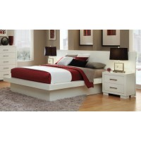 JESSICA COLLECTION - Jessica Contemporary White Eastern Kind Bed
