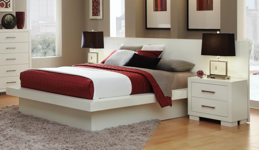 JESSICA COLLECTION - Jessica Contemporary White California King Bed