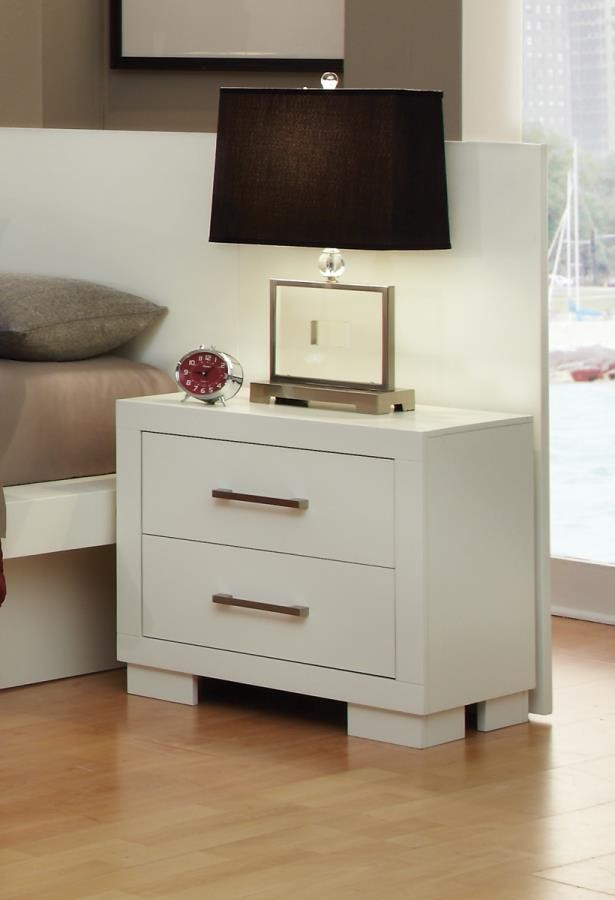 JESSICA COLLECTION - Jessica Contemporary Two-Drawer Nightstand
