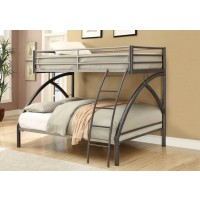 TWIN/FULL BUNK BED. - Twin-over-Full Metal Bunk Bed