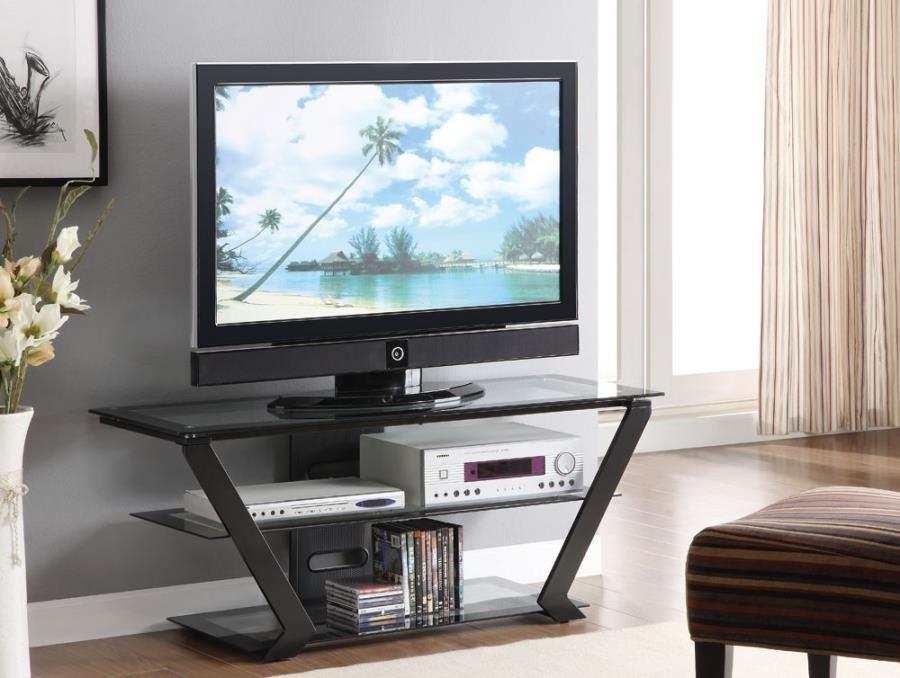 LIVING ROOM : TV CONSOLES - Contemporary Black TV Console