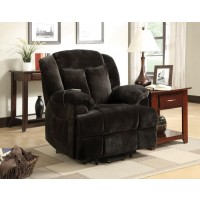 LIVING ROOM : POWER LIFT RECLINER - Casual Chocolate Velvet Power Lift Recliner