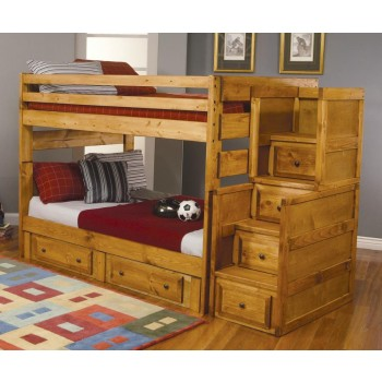 WRANGLE HILL COLLECTION - F/F BUNK BED