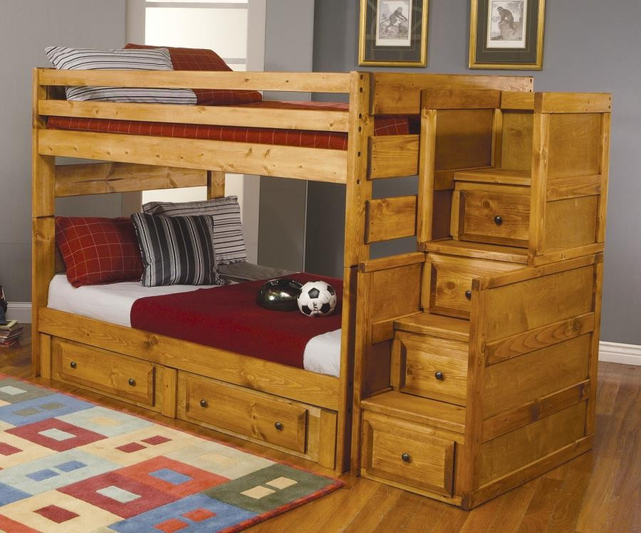WRANGLE HILL COLLECTION - FULL / FULL BUNK BED
