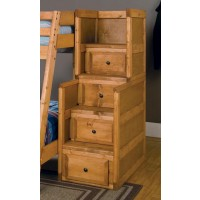 WRANGLE HILL COLLECTION - Wrangle Hill Amber Wash Stairway Chest