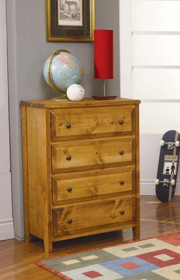 WRANGLE HILL COLLECTION - Wrangle Hill Amber Wash Four-Drawer Chest