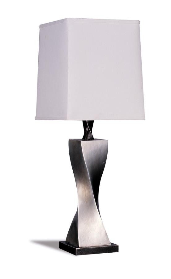 Accent Contemporary Antique Silver Table Lamp Pack Of 2 1497