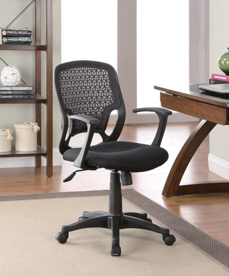 HOME OFFICE : CHAIRS - Casual Black Mesh Office Chair