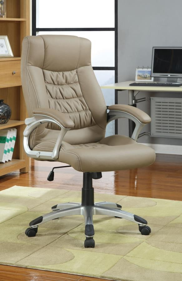 HOME OFFICE : CHAIRS - Transitional Taupe Office Chair