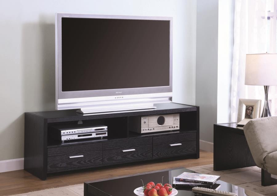 Living Room Tv Consoles Contemporary Black Oak Tv Console 700645 Tv Stands And Media Centers 209 Furniture Ca