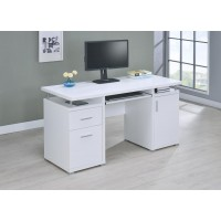 TRACY DESK - Contemporary White Computer Desk